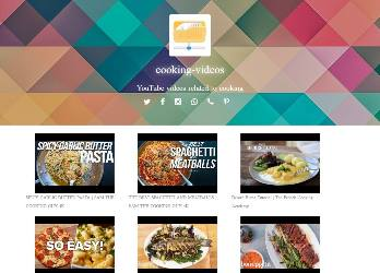 A site for viewing YouTube videos related to cooking